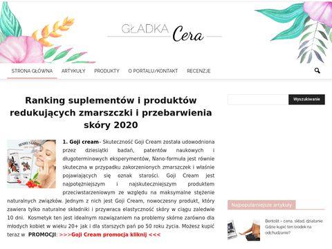 Gladkacera.pl - portal o pielęgnacji skóry twarzy