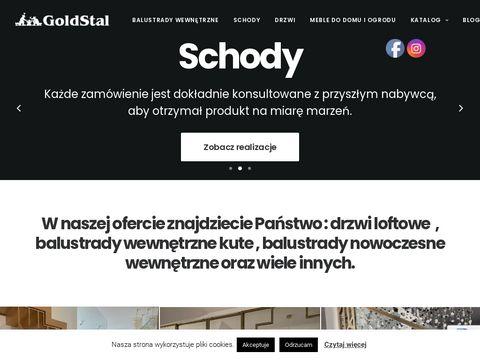 Goldstal.pl schody w salonie Warszawa