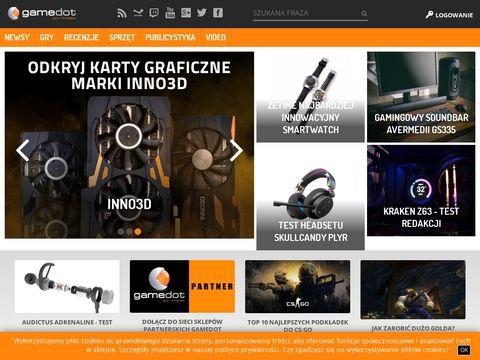 Gamedot.pl - sklepy i portal dla graczy