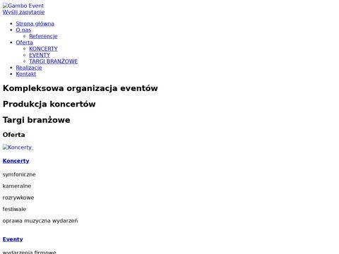 Gambo-event.pl organizacja imprez