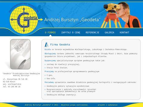 Andrzej Bursztyn pomiary geodezyjne