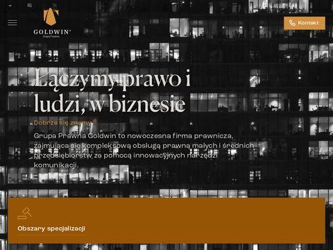 Gpgoldwin.pl obsługa prawna firm