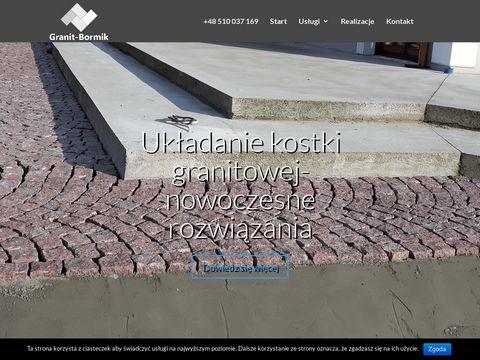 Granit-bormik.pl układanie kostki granitowej