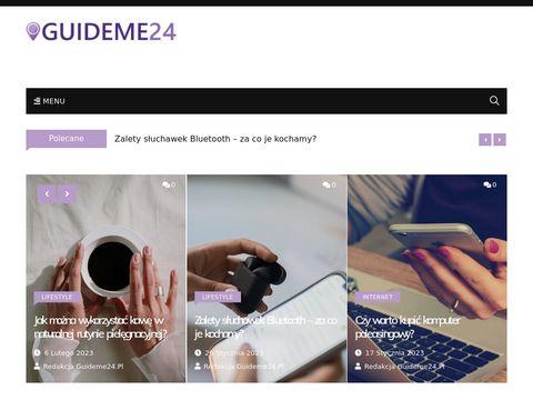 Guideme24.pl nawigacja strony www