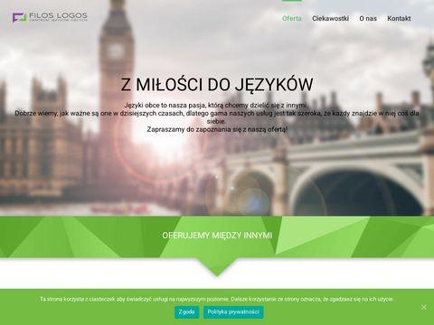 Filos Logos profesjonalne kursy językowe