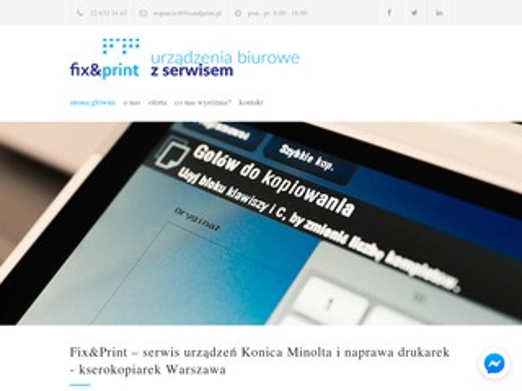 Fixandprint.pl drukarki Konica Minolta