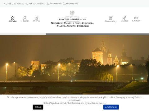 Manuela Flach-Chęcińska - notariusz w Krakowie