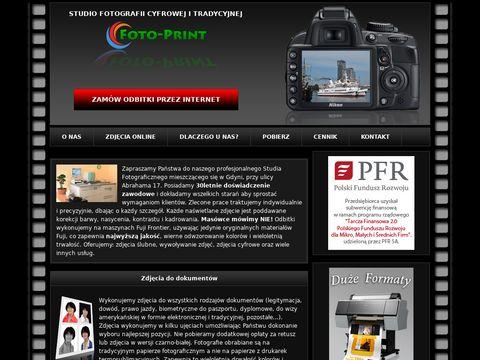 Foto-Print wysokiej jakości odbitki przez Internet