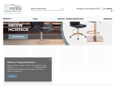 Fotele-kosmetyczne.pl nowoczesne meble fryzjerskie
