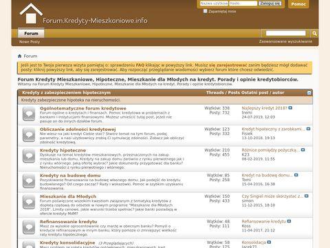 Forum.kredyty-mieszkaniowe.info