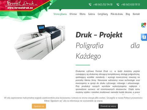 Format Druk - druk cyfrowy Łódź, drukarnia Łódź