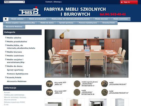 Fabryka mebli szkolnych i biurowych Koszalin producent