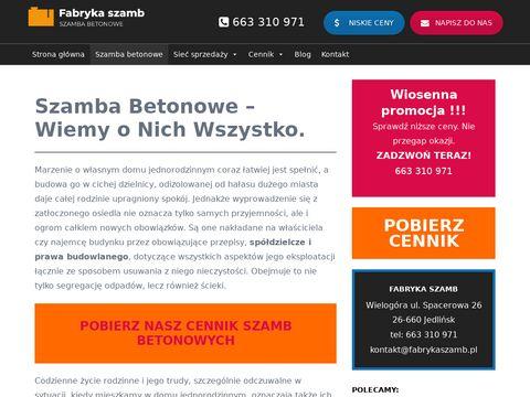 Fabrykaszamb.pl zbiorniki betonowe