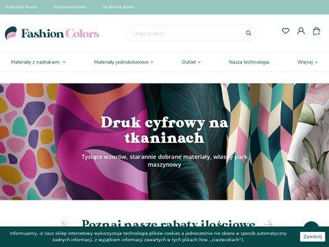 Fashioncolors.pl sklep internetowy z tkaninami