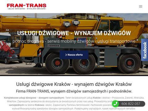 Fran-trans.com.pl wynajem podnośników Kraków