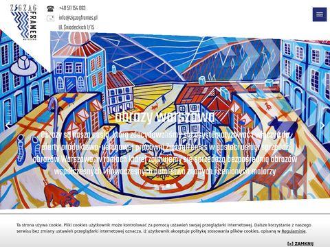 Zigzagframes.pl oprawa obrazów Warszawa