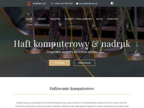 Zhaftem.pl - haft komputerowy i odzież reklamowa