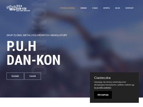 Zlomwarszawa.pl - skup makulatury - P.U.H. Dan-Kon