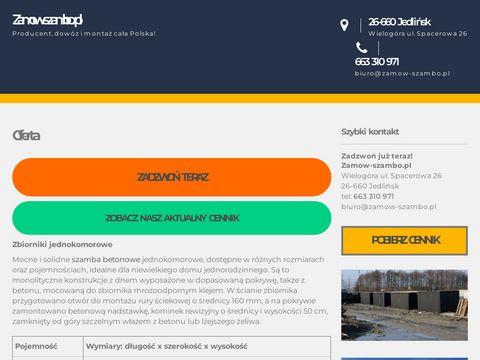 Zamow-szambo.pl zbiorniki