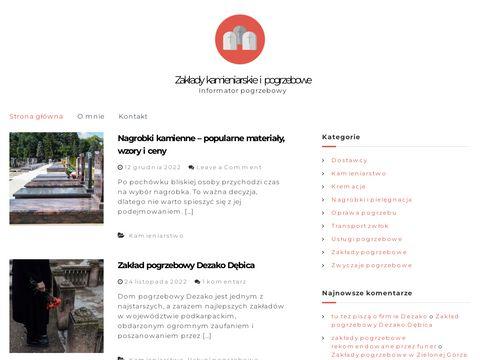 Zakladykamieniarskie.com.pl i pogrzebowe
