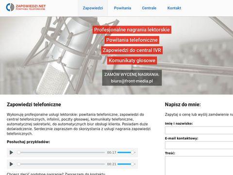 Zapowiedzi.net telefoniczne