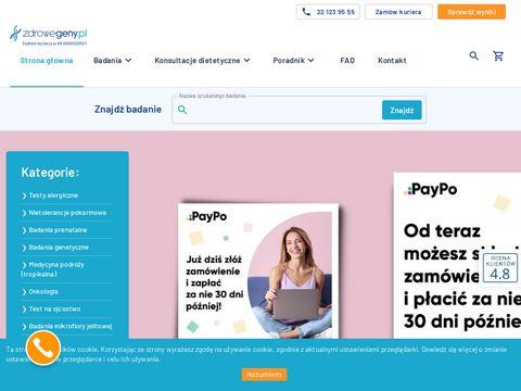 Zdrowegeny.pl centrum badań genetycznych