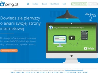 Ping.pl - monitoring stron internetowych
