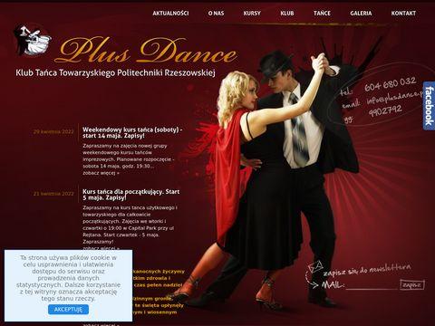 Plusdance.pl klub tańca towarzyskiego Rzeszów