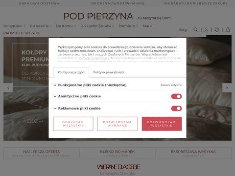 Podpierzyna.com puchowe kołdry