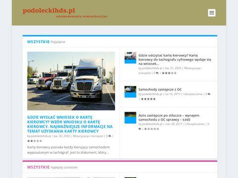Podoleckihds.pl transport materiałów budowlanych