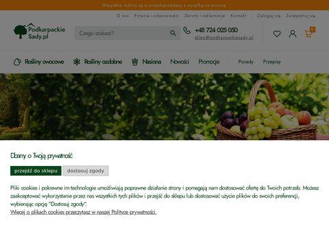 Podkarpackiesady.pl sklep internetowy