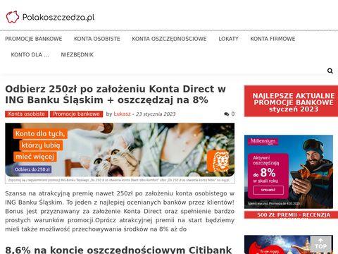 PolakOszczedza.pl promocje bankowe