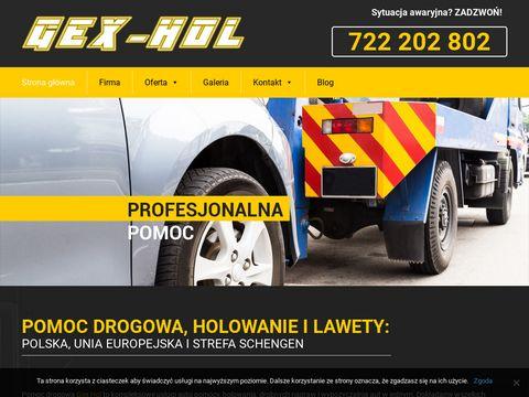 Gex-Hol - pomoc drogowa w Krośnie