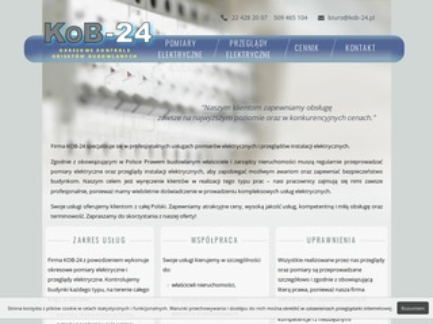 Pomiary-24.pl instalacji elektrycznych