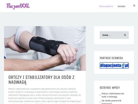 Pacjentxxxl.pl sprzęt medyczny pacjent z nadwagą