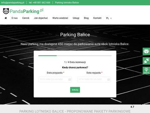 Pandaparking.pl lotnisko Balice