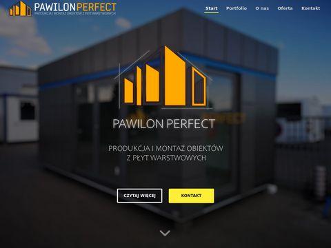 Pawilon-perfect.pl garaż z płyt warstwowych