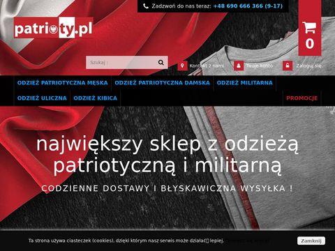 Patrioty.pl sklep z odzieżą patriotyczną