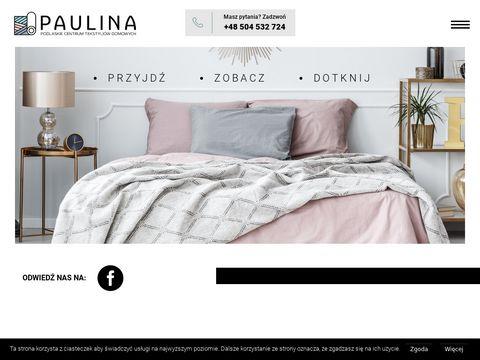 Paulina-sklep.pl hurtownia pościeli Białystok