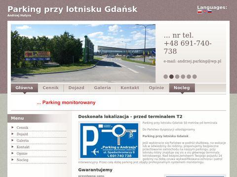 Tani parking przy lotnisku Gdansk