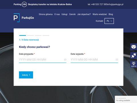 Parkujgo.pl Kraków balice parking