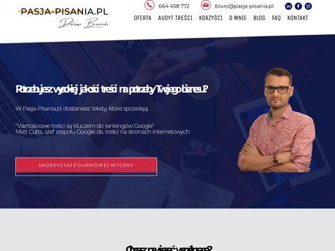 Pasja-pisania.pl redagowanie artykułów