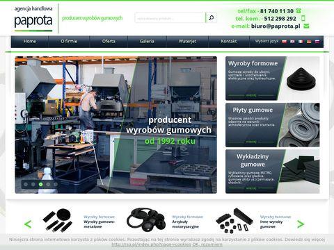 Paprota.pl - producent wyrobów gumowych