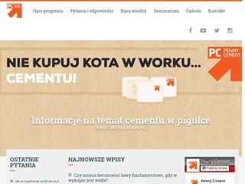 Pewnycement.pl - znak jakości najlepszego cementu