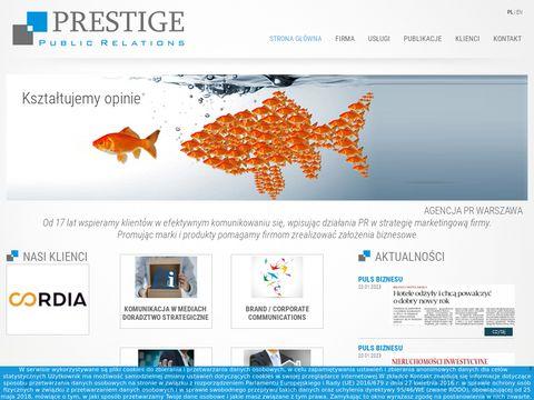 Prestigepr.pl - PR firm Warszawa