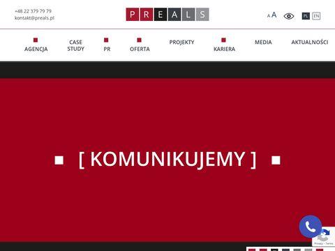 Preals.pl agencja PR Warszawa