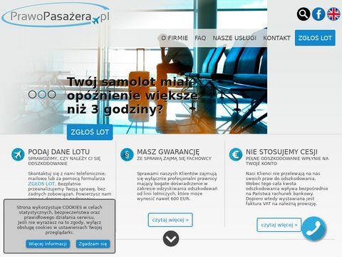 Prawopasazera.pl odszkodowanie za opóźniony lot