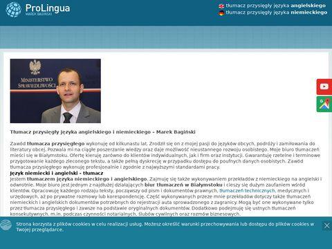 Pro Lingua. Biuro Tłumaczeń Marek Bagiński