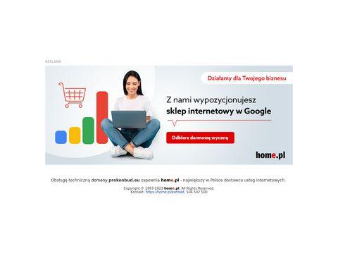 Prokonbud.eu projektowanie konstrukcji