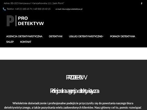 Prodetektyw.pl agencja detektywistyczna